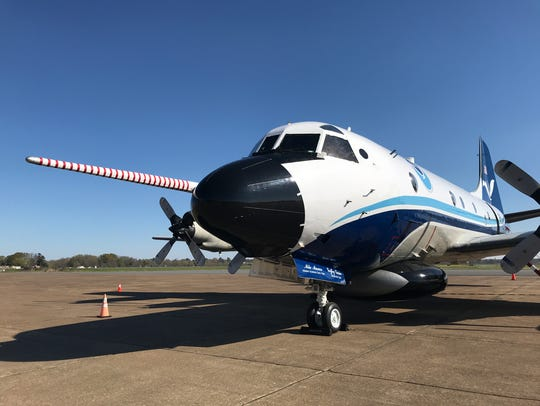 A NOAA P-3, known nicknamed Kermit was at Monroe Regional