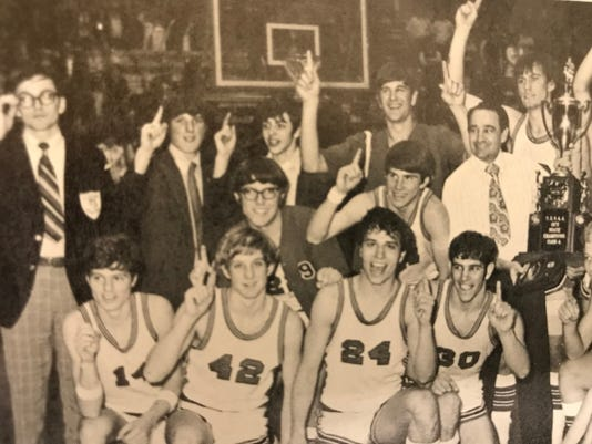 Pleasant boys basketball state champs 72-73