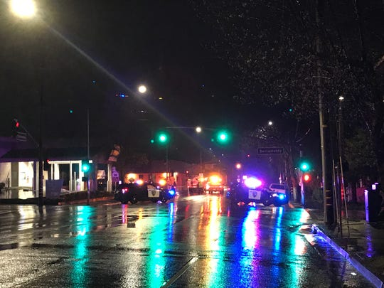 One person was killed and four were hurt in a two-vehicle crash Wednesday, March 21, 2018 in downtown Redding. The wreck forced the closure of the area around California and South streets while police investigated the fatal crash.