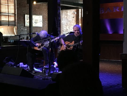 Guitarists Marc Ribot and David Hidalgo performed a