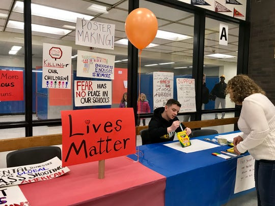 Attendants at Piscataway's March For Our Lives made