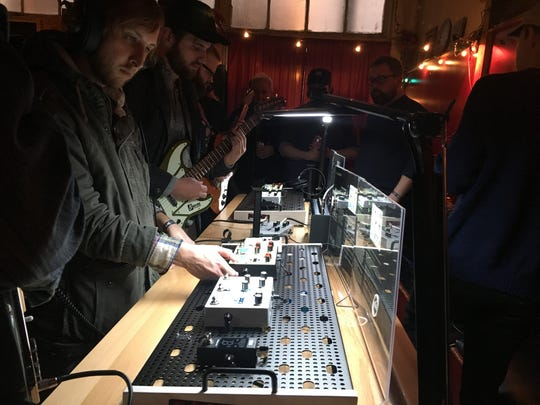 "Local company Hologram Electronics presented a ""Lab"" at Pilot Light for Big Ears attendees on Saturday evening, March 24, 2018."