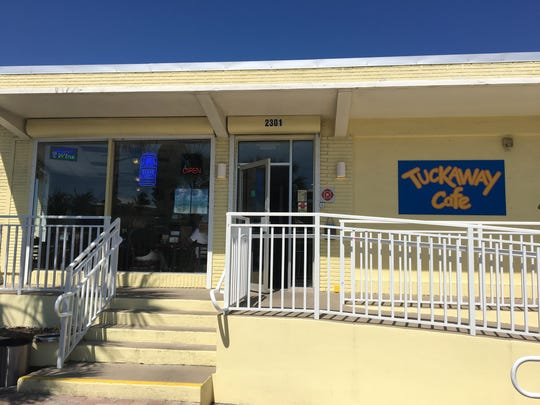 Tuckaway Cafe on Fort Myers Beach sells coffee drinks, sandwiches and Liege-style Belgian waffles.