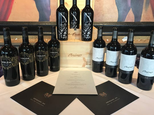 A selection of wines from Michael Mondavi Family Estate.