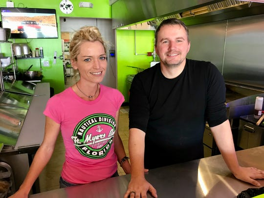 Christina Possiel and Mike Lehne own Lehne Burger in Cape Coral.
