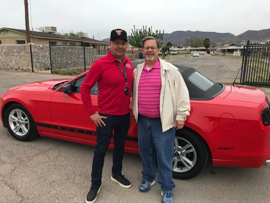 Mando Martinez, parade coordinator, and Russ Ubinger,