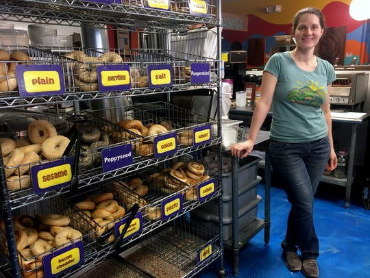 Laura Kerrone, owner of the Psychedelicatessen bagel