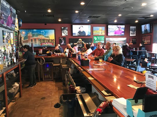 Sideliners has plenty of regulars, but owner Stephanie Mercado noted that she sees new faces every day as well.