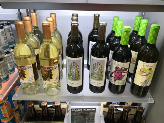 Arizona wines for sale at the AZCentral.com store in Terminal 4 at Phoenix Sky Harbor International Airport