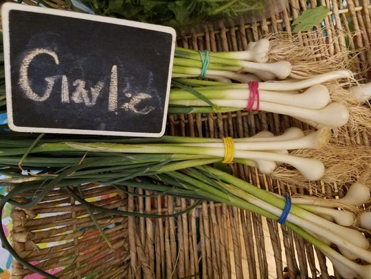 Spring garlic from Wildwood Herbal Farm.