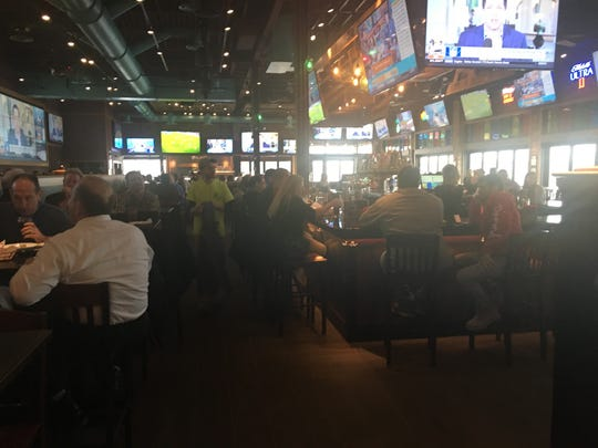 Chickie's & Pete's in Marlton was busy at lunch hour