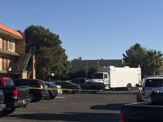 El Paso Police Department officers respond Wednesday to a report of a suspicious package found at an East Side apartment complex. The package was determined to be nonhazardous.