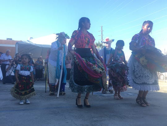 Traditional dancers performing at the opening of Galilee
