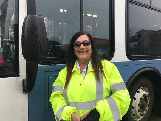 Elba Serrano, a bus driver for Dutchess County Public