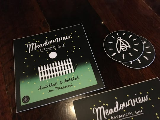 The creators of Springfield-based Meadowview Botanical Gin hired Daniel Zender, a designer from Springfield living in New York City, to create labeling that highlights the 12 botanicals in the liquor by featuring a white fence with 12 pickets and a firefly with 12 flashes.