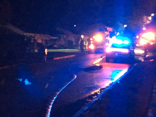 Crews on scene of a house fire that injured five people