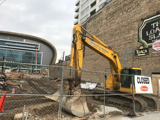"""The Milwaukee Bucks development arm wants to construct a 2,000 square foot building in the """"connector"""" that runs between the plaza in front of the new arena and N. Old World 3rd St. The building would be connected to a beer garden that the Bucks previously announced for the space."""