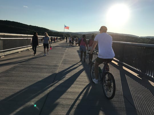 Bikers are welcome on the Walkway Over The Hudson