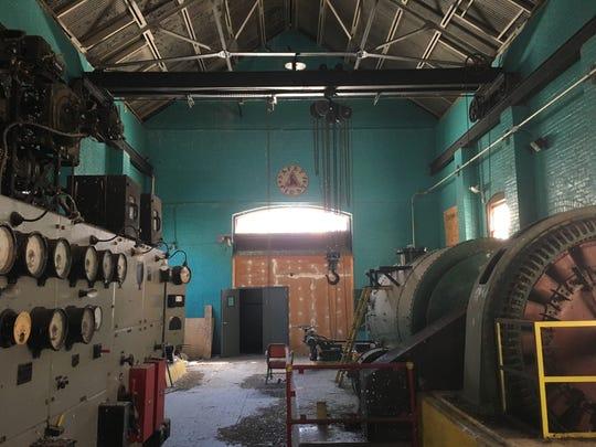 Interior of Farad powerhouse, built in 1899.