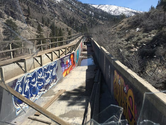 Diversion channel from Truckee River to Farad powerhouse.