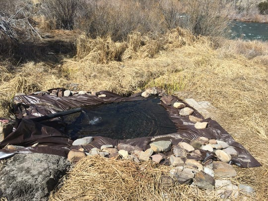 Hot spring at Farad, Calif.