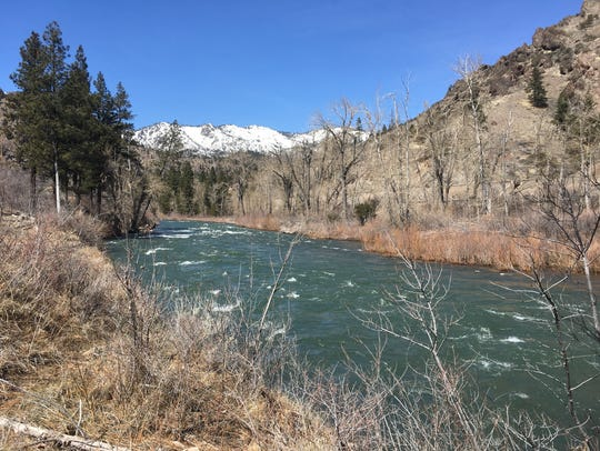 Truckee River at Farad, Calif.
