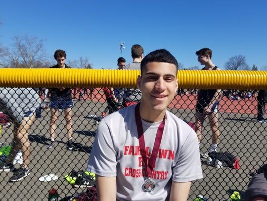 Fair Lawn's Joe Fernandez after medalling on Saturday,