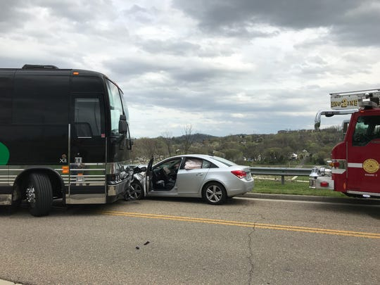 The group Hot Tuna's bus was hit by a car Thursday,