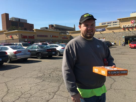 Jacob Sowles of Rochester Hills snagged a free lunch