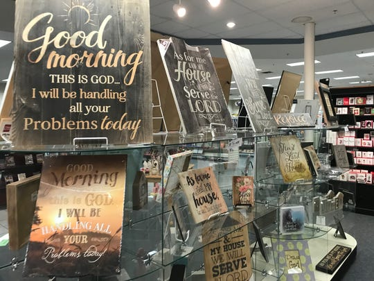 Inspirational decor for sale at the Gift & Bible Center