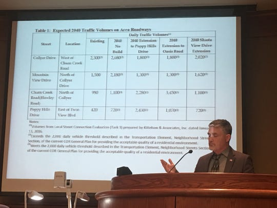 Redding Assistant Public Works Director Chuck Aukland