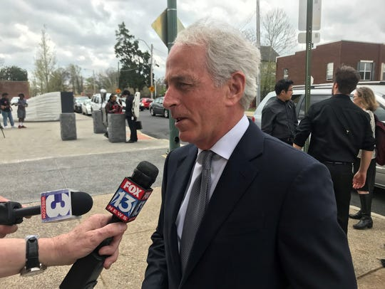 Sen. Bob Corker in Memphis Tuesday.