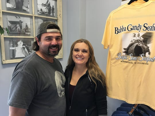 Bubba Gandy Seafood owners Chuck and Chantel Gandy