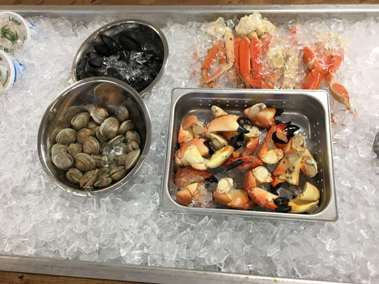 Bubba Gandy Seafood and Cajun Market offers some items that are already boiled and ready to eat, including oysters and crab legs.