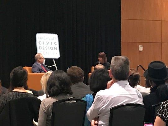 Mayor David Briley and Janette Sadik-Khan on Monday