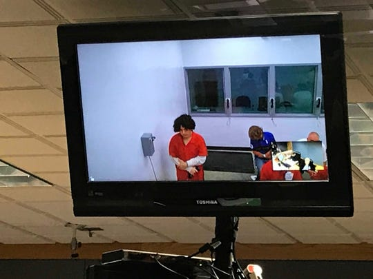 Kevin Guzman appears before Judge Zachary Gill at his first appearance Wednesday as a suspect in the 2016 death of Jordan Valero.