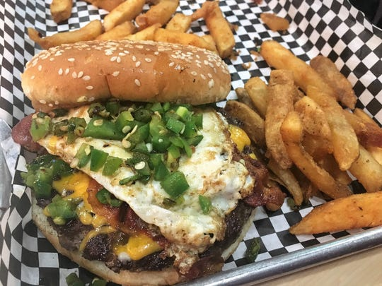 The Hangover Burger at Frida's Bar & Grill in Shreveport.