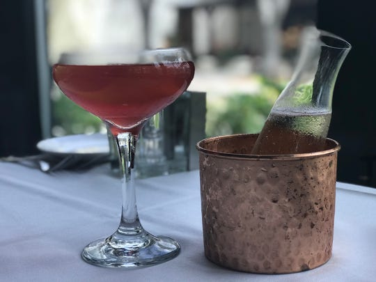 The Elderflower Elyx ($14) at Ocean Prime is mixed with Absolut Elyx, St. Germain Elderflower Liquer, Domaine Chandon, Peychaud's Bitters, grenadine and fresh-squeezed lemon juice.