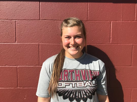 Northview's Tori Herrington has been a leader in the pitching circle, at the plate and vocally for the undefeated Northview softball team.