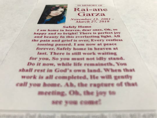 Rai-ane Garza, 16, was struck and killed in a hit-and-run