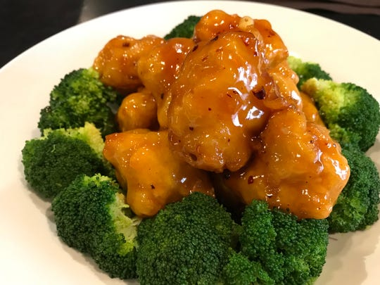 General Tso's Chicken at GingeRootz Asian Grille is