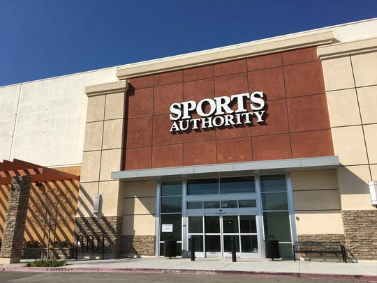Sports Authority left its sign behind when the sporting-goods