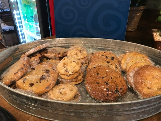 Roly Poly has a variety of cookies.