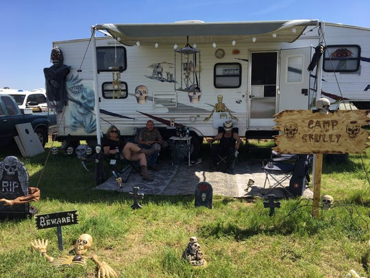 "The ""Camp Skully"" campsite at Country Thunder."