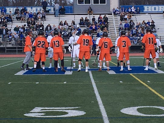 The Middletown North and the Holmdel boys lacrosse