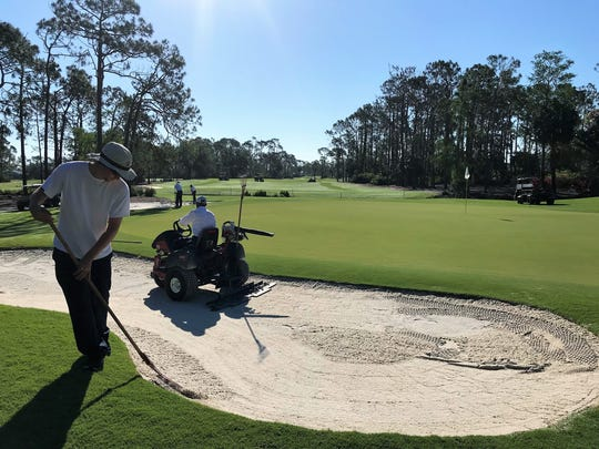Many of the bunkers at Quail Creek Country Club were