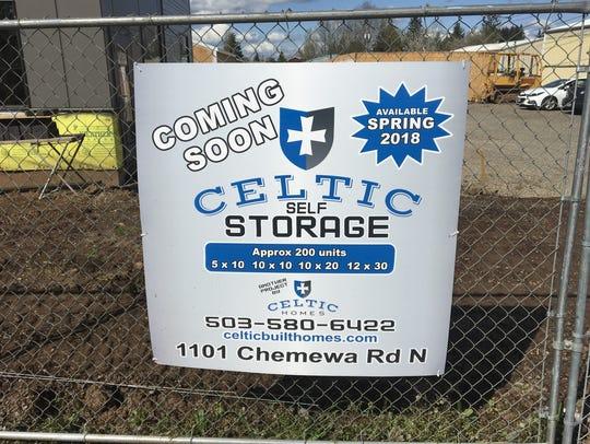 Construction of Celtic Self Storage in Keizer, Oregon,