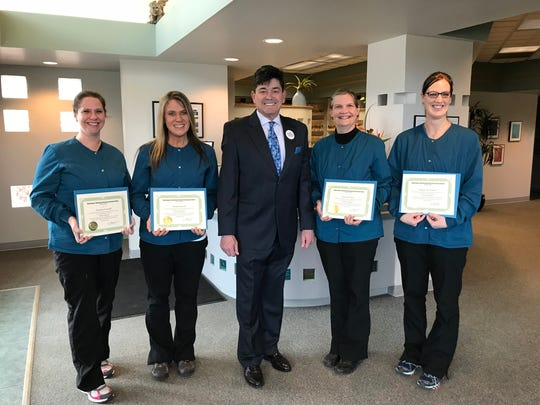 The Manitowoc Weekend Dental Assisting School at The Smile Clinic recently completed its winter session and announced the following graduates: Angie Boness, Daniela Evanoff, Anne Juza and Megan Krizek.