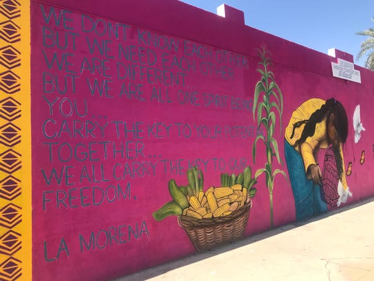 """South Phoenix mural dedicated to """"Dreamers"""" on April"""