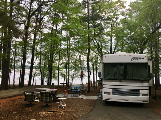 Travel and tourism reporter Leigh Guidry and her family camped in a 31-foot motor home at Lake Claiborne State Park.
